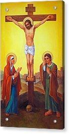 Crucifixion Of Jesus Christ - Golgotha  Acrylic Print by Svitozar Nenyuk
