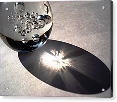 Crystal Ball With Trapped Air Bubbles Acrylic Print by Sumit Mehndiratta