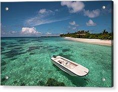 Crystal Clarity. Maldives Acrylic Print by Jenny Rainbow