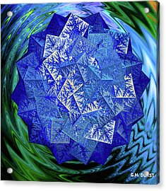 Crystal Energy Acrylic Print by Michael Durst