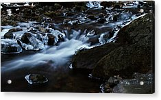 Crystal Flows In Hdr Acrylic Print by Joseph Noonan