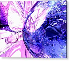 Crystallized Abstract Acrylic Print by Alexander Butler