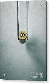 Csi Bullet Shell Evidence  Acrylic Print by Carlos Caetano