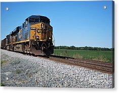 Csx Train Engine Acrylic Print by Pamela Baker