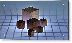 Cubes Acrylic Print by Mark Fuller