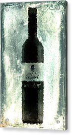 Cubist Red Wine Acrylic Print by Andrea Barbieri