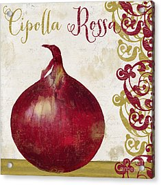 Cucina Italiana Onion Acrylic Print by Mindy Sommers