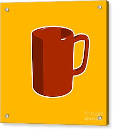 Cup Of Coffee Graphic Image Acrylic Print by Pixel Chimp