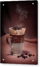 Cup Of Hot Coffee Acrylic Print by Tom Mc Nemar