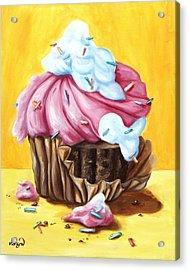Cupcake Acrylic Print by Maryn Crawford