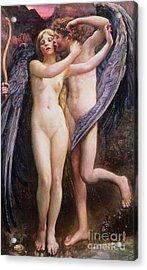 Cupid And Psyche Acrylic Print by Annie Louisa Swynnerton