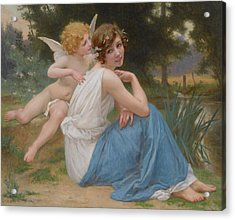 Cupid And Psyche Acrylic Print by Guillaume Seignac