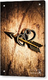 Cupid Arrow And Hearts Acrylic Print by Jorgo Photography - Wall Art Gallery