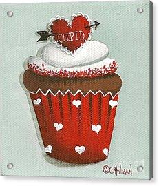 Cupid's Arrow Valentine Cupcake Acrylic Print by Catherine Holman