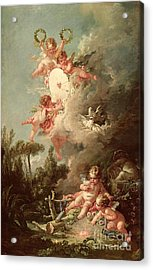 Cupids Target Acrylic Print by Francois Boucher