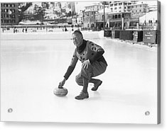 Curling In St. Moritz Acrylic Print by Underwood Archives
