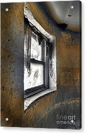 Curved Wall Window Acrylic Print by Norman  Andrus