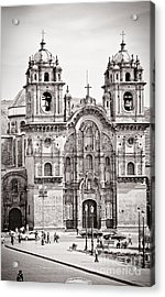 Cusco Cathedral Acrylic Print by Darcy Michaelchuk
