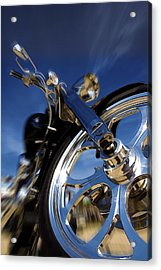 Custom Chopper Acrylic Print by Ricky Barnard