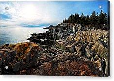 Cutler Coast Stillness Acrylic Print by Bill Caldwell -        ABeautifulSky Photography