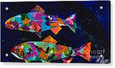 Cutthroats Acrylic Print by Tracy Miller