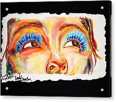 Cyn's Tear Acrylic Print by Joseph Lawrence Vasile