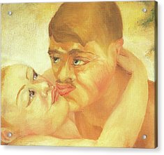 D H Lawrence Close Up Kiss Acrylic Print by D H Lawrence