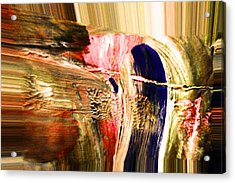 Dabbed Abstract Acrylic Print by Jeff Swan