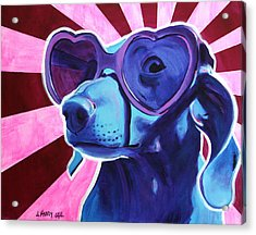 Dachshund - Puppy Love Acrylic Print by Alicia VanNoy Call
