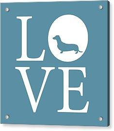 Dachshund Love Acrylic Print by Nancy Ingersoll