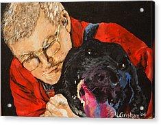 Daddy And Borus Acrylic Print by Laura  Grisham