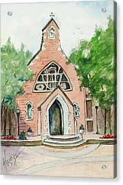 Dahlgren Chapel Acrylic Print by Mary DuCharme