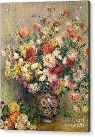 Dahlias Acrylic Print by Pierre Auguste Renoir