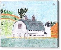 Dairy Barn Acrylic Print by John Hoppy Hopkins