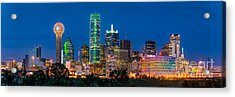 Dallas After Dark Acrylic Print by Tod and Cynthia Grubbs