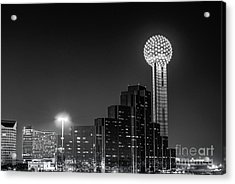 Dallas City At Night Acrylic Print by Tod and Cynthia Grubbs