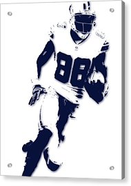 Dallas Cowboys Dez Bryant Acrylic Print by Joe Hamilton