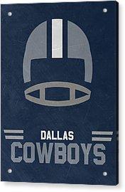 Dallas Cowboys Vintage Art Acrylic Print by Joe Hamilton