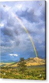 Dallas Divide Rainbow II Acrylic Print by Jon Glaser