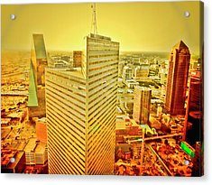 Dallas Gold Acrylic Print by Douglas Barnard