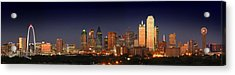 Dallas Skyline At Dusk  Acrylic Print by Jon Holiday