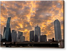 Dallas Skyline Acrylic Print by Drew Castelhano
