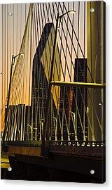 Dallas Through Bridge Acrylic Print by David Clanton