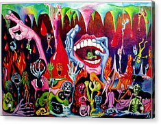 Damnation Of The Evil Acrylic Print by Nancy Mueller