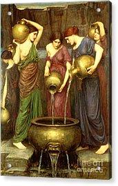 Danaides Acrylic Print by John William Waterhouse