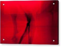 Dance In Red Acrylic Print by Scott Sawyer