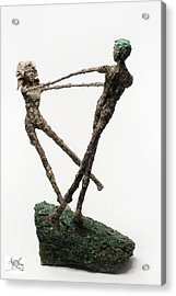 Dance On A Hill Top Back View Acrylic Print by Adam Long