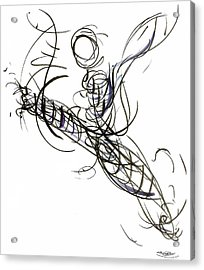 Dance Leap Force Acrylic Print by Laura Higgins Palmer