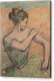 Dancer Acrylic Print by Degas