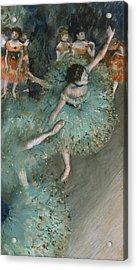 Dancer In Green Acrylic Print by Edgar Degas